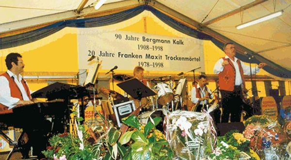 Celebrations of the 90th anniversary of Bergmann Kalk and 20th anniversary of Franken Maxit